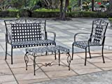 International Caravan Scroll Wrought Iron Settee Group For Sale