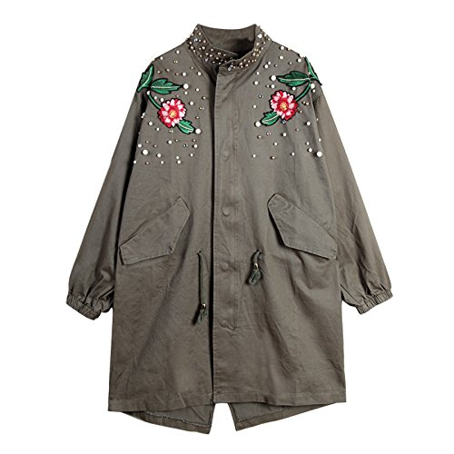 BABY-QQ Fashion;good-looking Design Pearl Beading Plus Size Women Jacket Coat