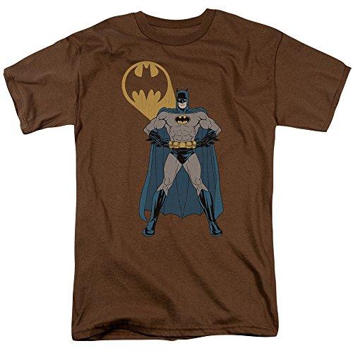 Batman Men's Arms Akimbo Bats Classic T-shirt XXX-Large White