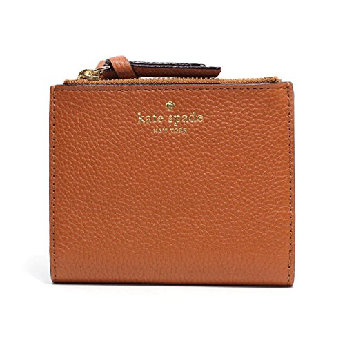 6eb9ffbb64323 Kate Spade Small Malea Mulberry Street Pebbled Leather Wallet Brown ...