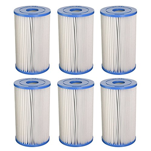 Unicel Swimming Pool/Spa PIN20 Intex Replacement Filter Cartridge (6 Pack) C5315
