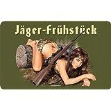 Jäger Frühstück - Resopal Brettchen - Frühstücksbrettchen Resopal lebensmittelecht - 14,2x23,3 cm