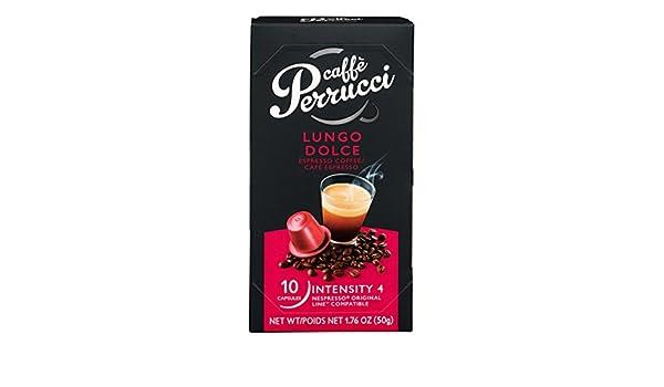 Caffe perrucci nespresso compatible capsules lungo dolce
