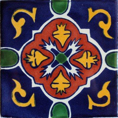 3x3 9 pcs Blue Granada Talavera Mexican Tile