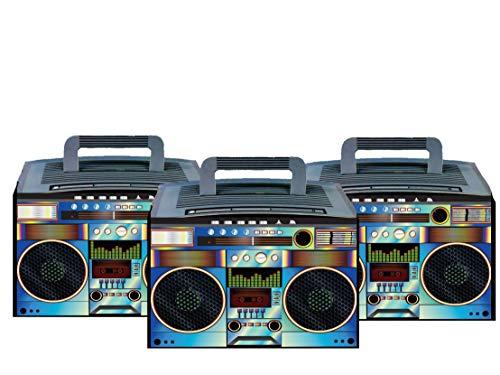 Party Drop Box Retro BoomBox Party Favor Boxes 6ct (Best Headphones For Hip Hop 2019)
