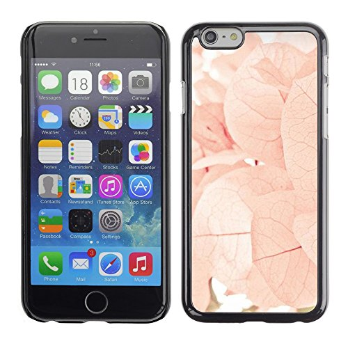 Soft Silicone Rubber Case Hard Cover Protective Accessory Compatible with Apple iPhone? 6 (4.7 Inch) - autumn spring flowers leaves pink