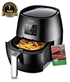 Air Fryer 3.7QT 1400W Electric  Large Deep Fryer Oil-free Touchscreen Healthy Cooker With Detachable Basket Dishwasher Safe Auto Shut Off W/ CookBook Review