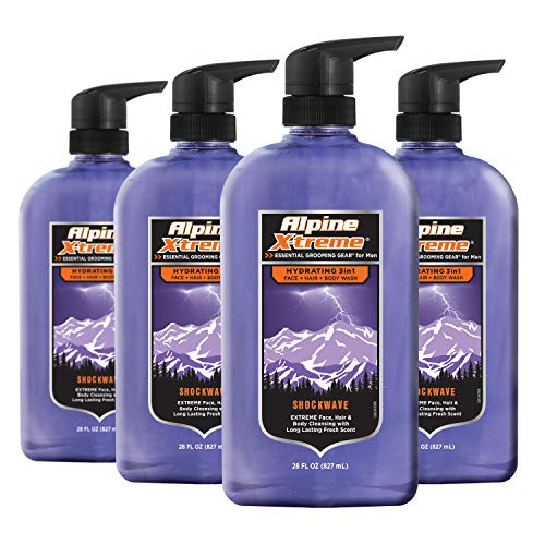 Alpine X-treme Shockwave Body Wash, 28oz (Pack of 4)