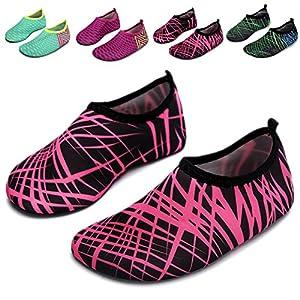 L-RUN Swimming Socks For Kids Baby Girl Boy Swim Shoes Rose Red M US 12.5-13=EU 30-31