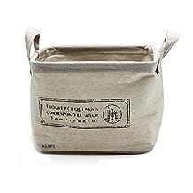 Storage Basket, ASAPS Small Cloth Fabric Cube Foldable Storage Organizer Basket with Handle