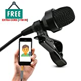 TOPTIERPRO iphone Lavalier Microphone Set - Omnidirectional lavalier lapel mic Best For Recording Youtube, Video Conference, Podcast, Voice Dictation - New Design