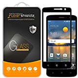 (2 Pack) Supershieldz for ZTE Blade Spark Tempered Glass Screen Protector, (Full Screen Coverage) Anti Scratch, Bubble Free (Black)