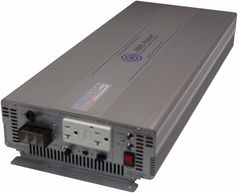 AIMS Power PWRIG500024120S 5000W 24V Pure Sine Power Inverter with GFCI Outlets