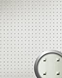 WallFace 11273 SQUARE Wall panel metal look 3D decor rivets wallcovering self-adhesive stainless steel grey | 2,60 sqm