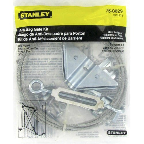 Stanley Hardware Anti-Sag Gate Kit, Zinc Plated #760829