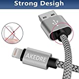 Lightning Cable, AKEDRE 4Pack [10FT 6FT 3FT 3FT] Nylon Braided 8 pin Charging Cables USB Charger Cord for iPhone 8/ 8Plus 7Plus 7 6S Plus 6 Plus SE 5S 5C 5, iPad 2 3 4 Mini, iPad Pro Air, iPod