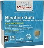 Walgreens Nicotine Gum, 4mg, Original 170 ea