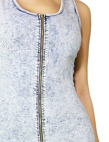 Sexy Fashion Denim Bodycon Pencil Midi Party Dress Skirt for Women (SMALL, DENIM-C2134)