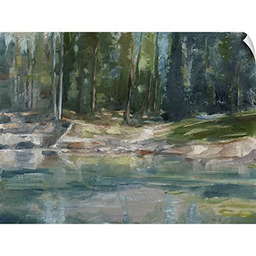 - CANVAS ON DEMAND Northwestern Lake II Wall Peel Art Print, 48
