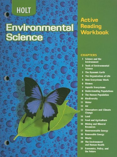 Holt Environmental Science: Active Reading Workbook