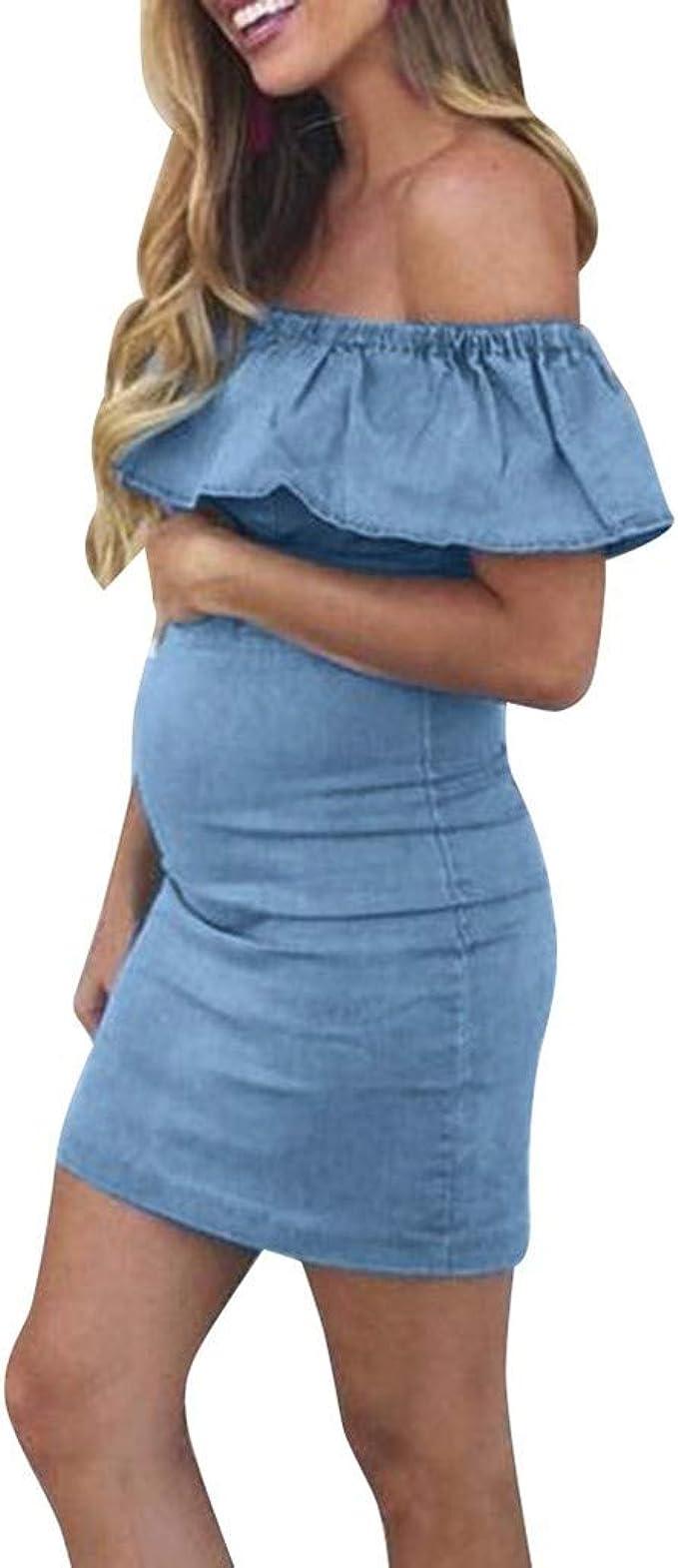 Abiti Eleganti Oviesse.Abito Di Jeans Premaman Eleganti Jeans Gonna Mini Vestiti Dress