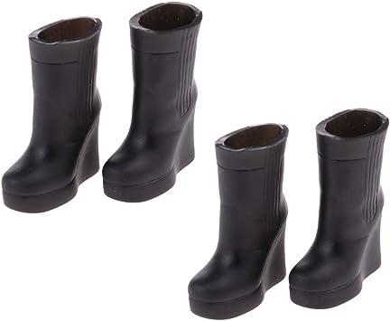 Amazon.es: Toygogo 2 Pares De Botas De Lluvia 1/6 Zapatos Negros para Accesorios De Jardín Blythe Licca Dolls: Juguetes y juegos