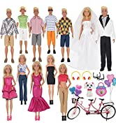 EuTengHao 30Pcs Doll Clothes and Accessories for 12 inch Boy and Girl Doll Includes 12 Set Wear C...
