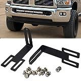 For 2003-2019 Dodge Ram 2500 3500 Hidden Bumper Grille Mounting Brackets Fit 22'' 32'' 42'' Straight LED Light Bar