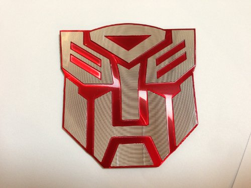 3d Red Transformers Autobot Logo Emblem Badge Decal Car - Autobot Car Badge