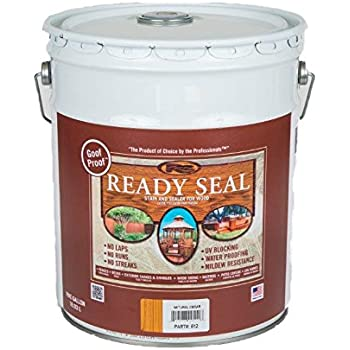 Ready Seal 512 5 Gallon Pail Natural Cedar Exterior Wood Stain And Sealer