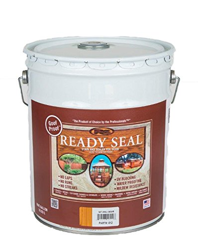 Decking Stain - Ready Seal 512 5-Gallon Pail Natural Cedar Exterior Wood Stain and Sealer