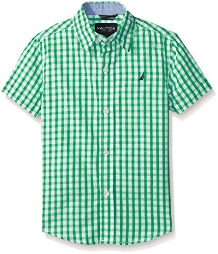 Nautica Boys Short Sleeve Gingham Shirt