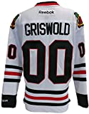 Chevy Chase Blackhawks National Lampoon's Christmas Vacation Griswold Reebok Premier Jersey X-Large