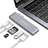 electronic 50 shades of grey - USB-C Hub, Aluminum Type-C Hub Adapter for 2016/2017 MacBook Pro 13