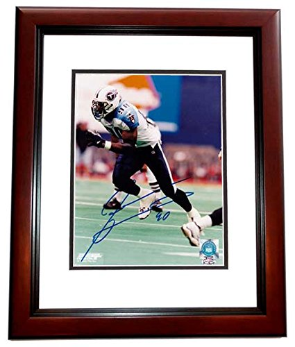 Jevon Kearse Signed - Autographed Tennessee Titans 8x10 inch Photo MAHOGANY  CUSTOM FRAME b50b612ac