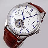 43mm Genuine Parnis men's watch white dial power reserve Seagull Automatic movement P013