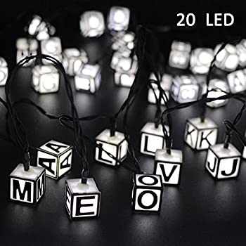 Vmanoo 20 LED String Lights, Solar Powered Fairy String Lights 15.5 Feet with 8 Modes For Christmas Children Room Kids Teepee Tent Holiday Party, Xmas Decorations, Waterproof (White)