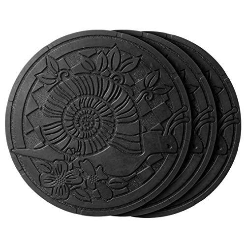 HF by LT Deluxe Rubber Stepping Stone, Snails Design, Heavy Duty 13