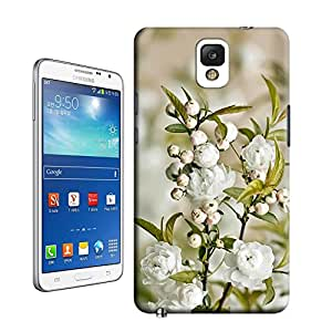 lincase beautiful white flowers Tpu material hard case cover for Samsung Galaxy Note3