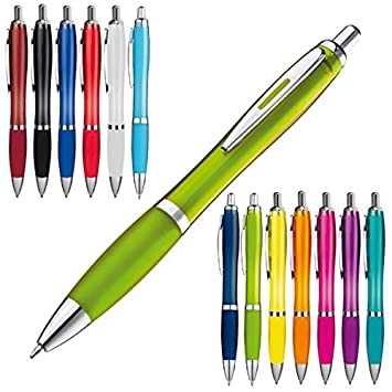 Farbe 10x Kugelschreiber transparent weiß