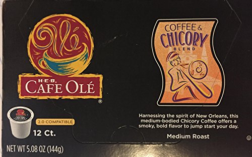 HEB Cafe Ole Coffee and Chicory Blend Pods compatible with Keurig