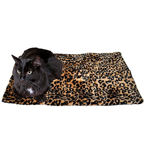 (Thermal Cat Pet Dog Warming Bed Mat, Comfortable Nap, Sleeping and Crate Mat for Cats (Large,)