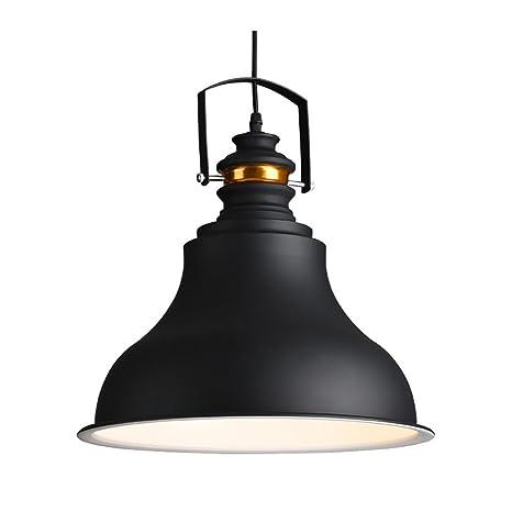 Vintage chandelier colgante Simple creativa moderna Retro bola de cristal de hierro negro tienda de ropa