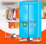 Kawachi Electric Clothes Dryer Indoors 2-Layers Fast Air Dry Hot Wardrobe Machine Drying Rack