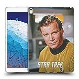 Official Star Trek Smirk Captain Kirk Soft Gel Case Compatible for iPad Air (2019)