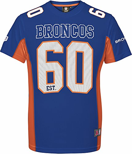 Majestic Athletic Denver Broncos NFL Moro Poly Mesh Jersey Tee T-Shirt Trickot