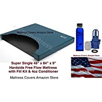 United States Water Mattress Super Single Free Flow Waterbed Mattress with Fill Kit and conditioner