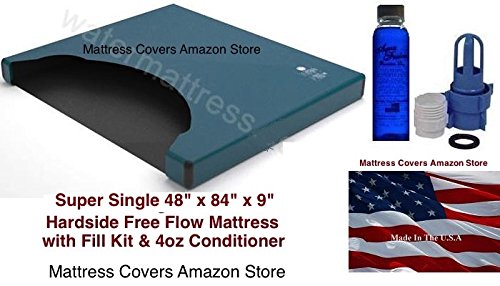 (United States Water Mattress Super Single Free Flow Waterbed Mattress with Fill Kit and)