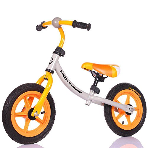 Little Bambino Kid's Children's Balance Bicycle | No Pedal Training Bike | Boys Girls (Orange)
