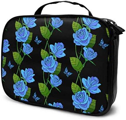 Blue Rose Elegant Beauty Flowers Artículos de Viaje Bolsas para Mujeres Estuche de Maquillaje Bolsa de Maquillaje Bolsa Impresa multifunción para Mujeres: Amazon.es: Equipaje